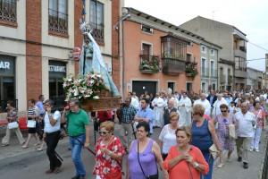 La parroquia de San Andrés también honró a la Virgen. Ciudadrodrigo.net
