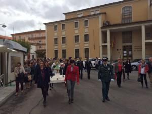 Procesión desde el cuartel de Ciudad Rodrigo hasta la parroquia de San Cristóbal